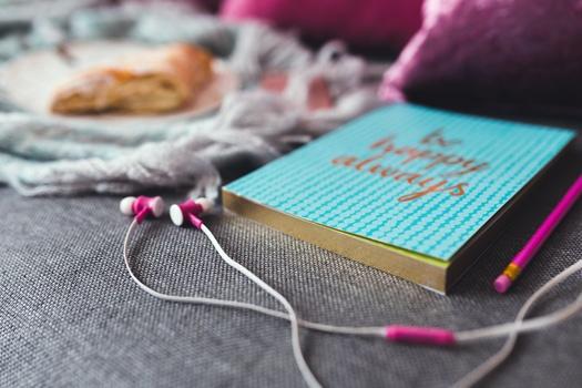 pexels earphones diary